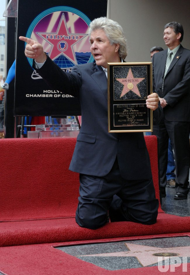 PRODUCER JON PETERS RECEIVES STAR ON HOLLYWOOD WALK OF FAME IN LOS ANGELES