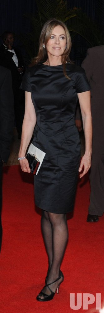 Director Kathryn Bigelow arrives at the White House Correspondents Dinner in Washington