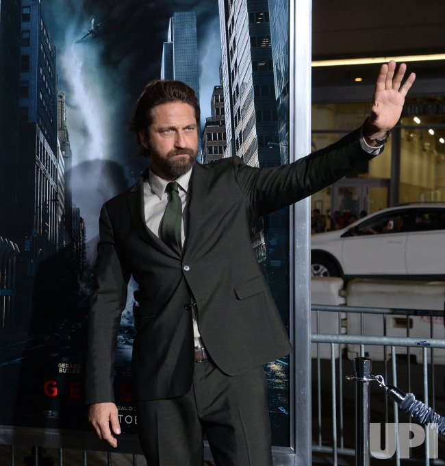 "Gerard Butler attends the ""Geostorm"" premiere in Los Angeles"