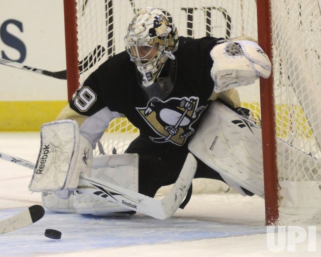 Pittsburgh Penguins Goalie Marc-Andre Fleury 25th Birthday Win