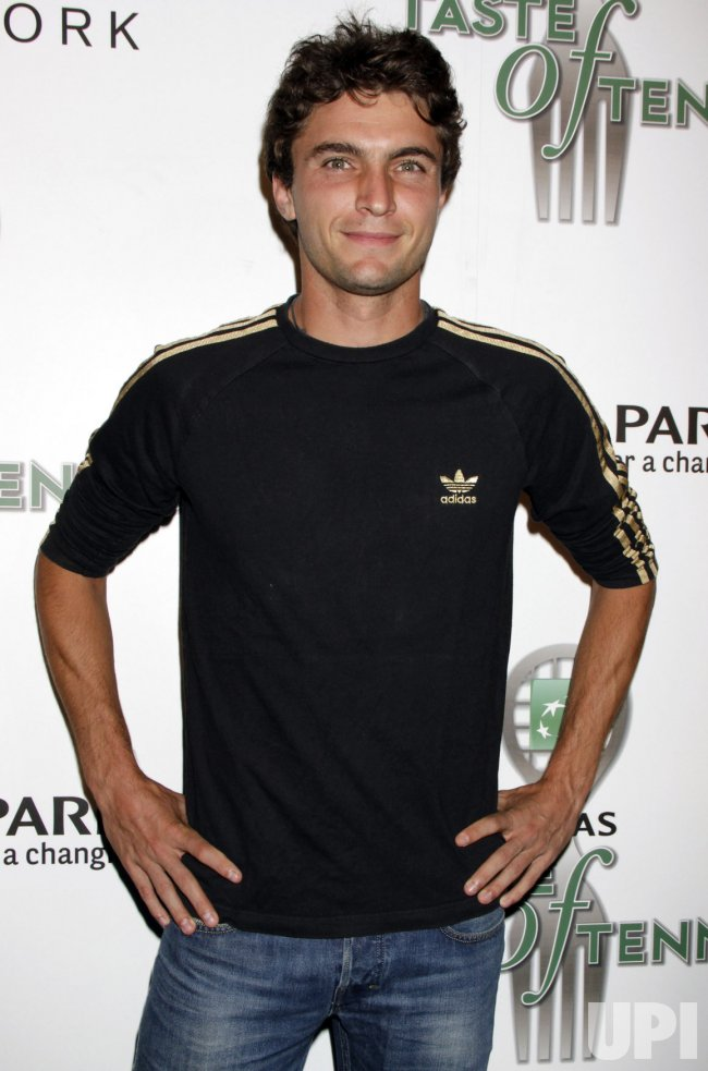 "Gilles Simon arrives for the ""Taste of Tennis in New York"