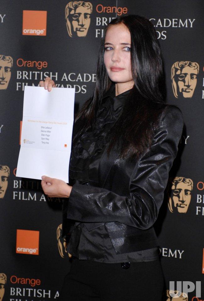 "Eva Green presents the nominations for BAFTA's ""Rising Star"" award in London"