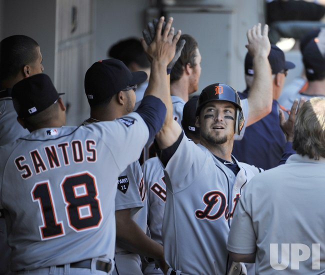 Tigers' Raburn hits grand slam against White Sox in Chicago
