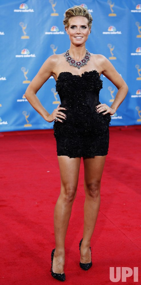 Heidi Klum arrives at the 62nd Primetime Emmy Awards in Los Angeles