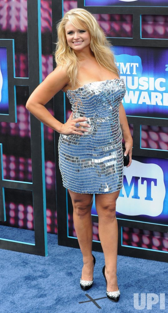 Miranda Lambert arrives at the CMT Awards in Nashville