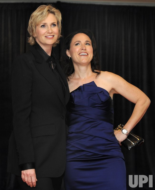 Jane Lynch and partner arrive for White House Correspondent's Assoc. in Washington DC