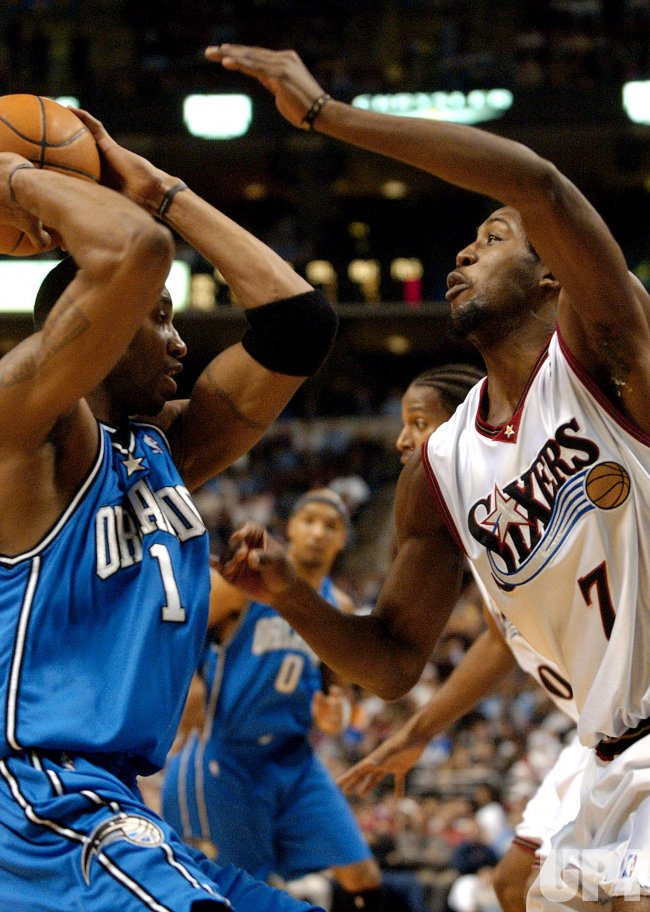ORLANDO MAGIC AND PHILADELPHIA 76ERS IN NBA BASKETBALL