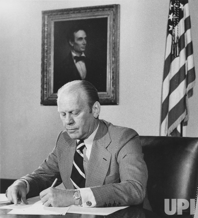 President Ford Signs Conditional Amnesty For Vietnam Era