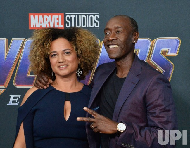 Don Cheadle And Bridgid Coulter Attend Avengers Endgame Premiere