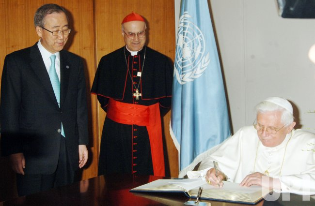Pope Benedict XVI visits the United Nations in New York