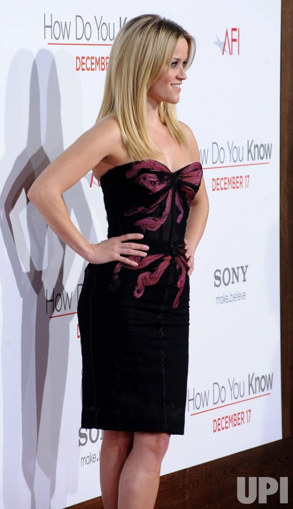 "Reese Witherspoon attends the ""How Do You Know"" premiere in Los Angeles"