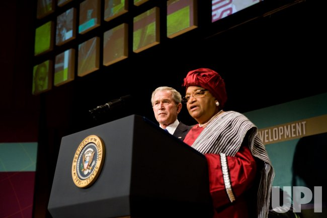 President Bush speaks at the White House Summit on International Development in Washington