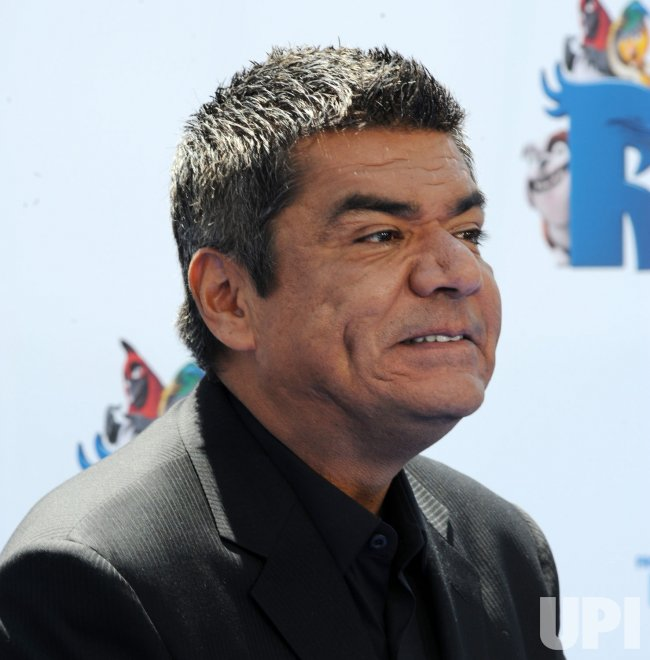"George Lopez arrives at the ""Rio"" premiere in Los Angeles"
