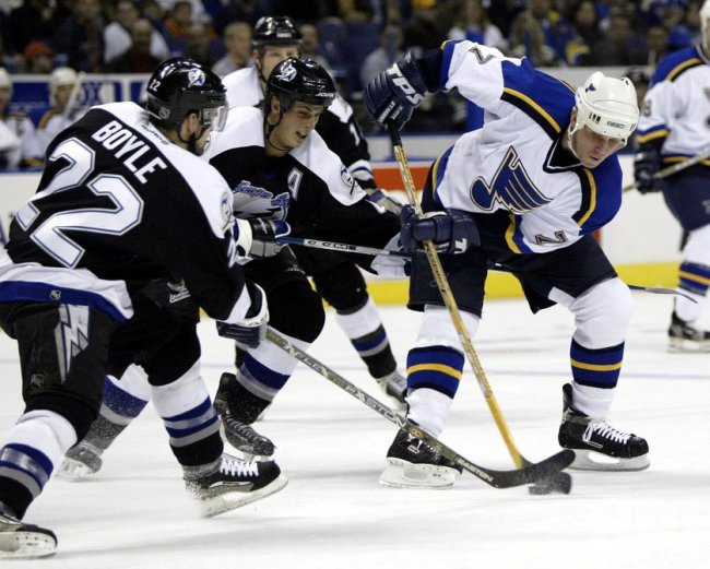 Tampa Bay Lightning vs St. Louis Blues hockey