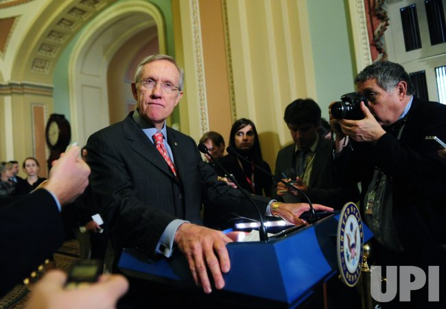 Senate Majority Leader Reid speaks on the lameduck session in Washington