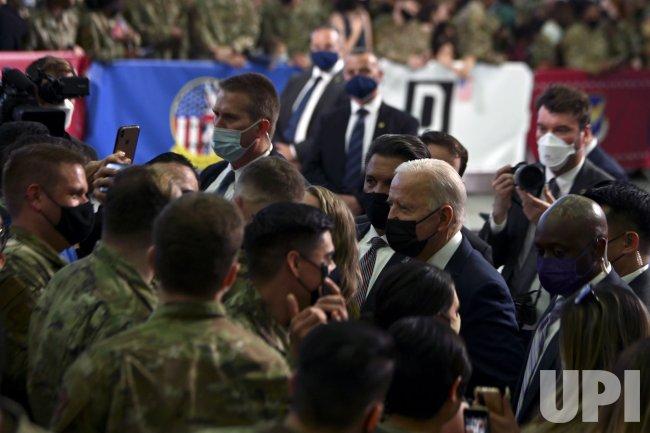 POTUS Visits RAF Mildenhall En Route to G7 Summit in United Kingdom