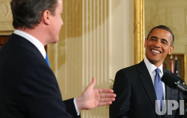 President Obama holds a joint press conference with UK PM David Cameron in Washington