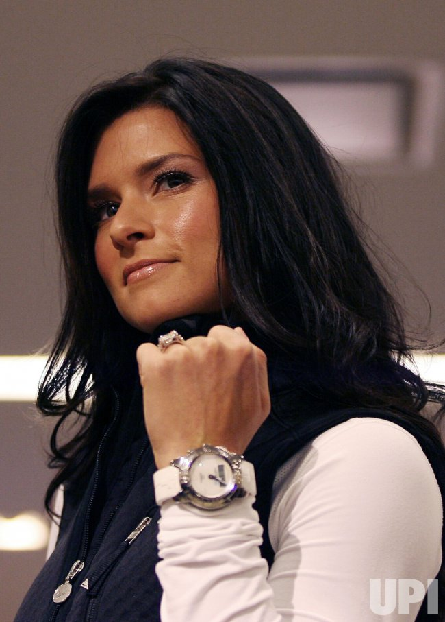 Danica Patrick walks the runway for Marie Claire and Tissot at Macy's in New York City
