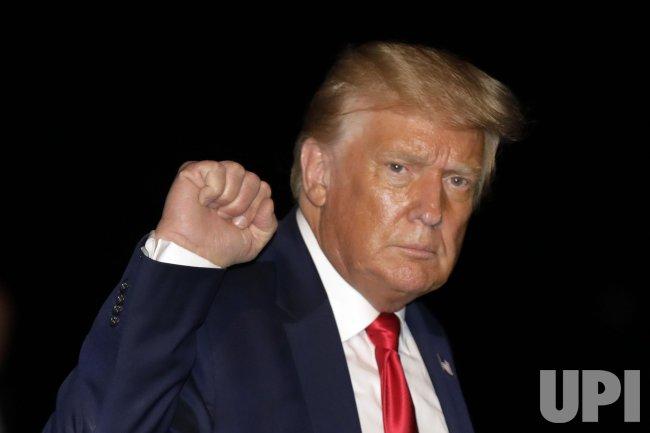 Donald Trump Returns from Tampa