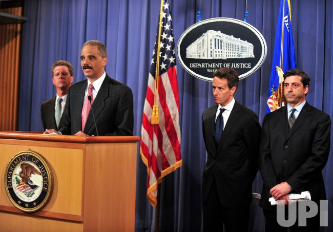 Attorney General Eric Holder announces the formation of a special financial fraud task force in Washington