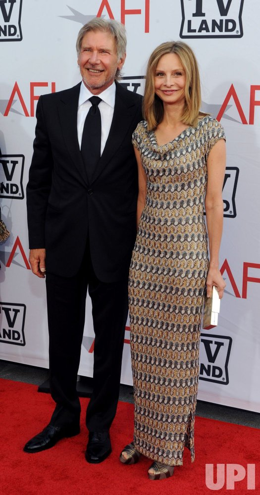 Harrison Ford and Calista Flockhart arrive at the AFI Lifetime Achievement Awards in Culver City, California
