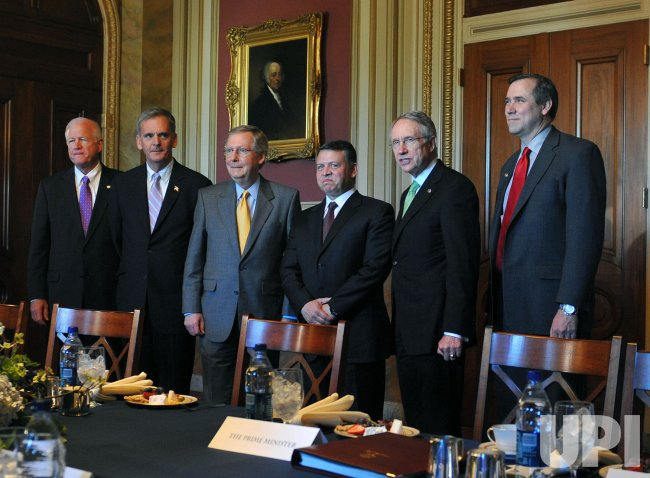 King Abdullah II meets with Senate Leaders on Capitol Hill in Washington