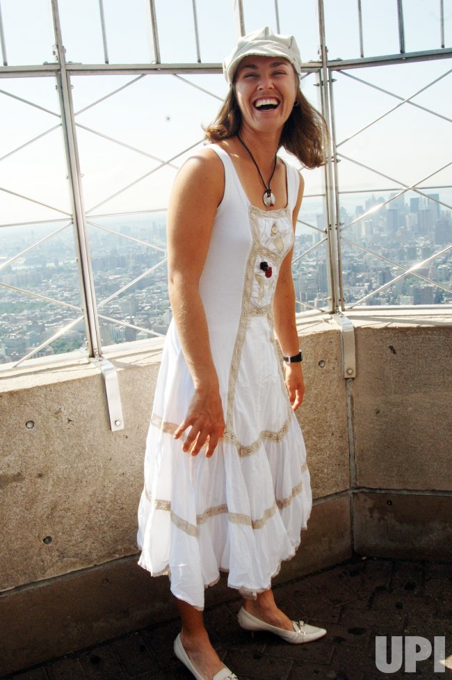 MARTINA HINGIS VISITS THE EMPIRE STATE BUILDING IN NEW YORK