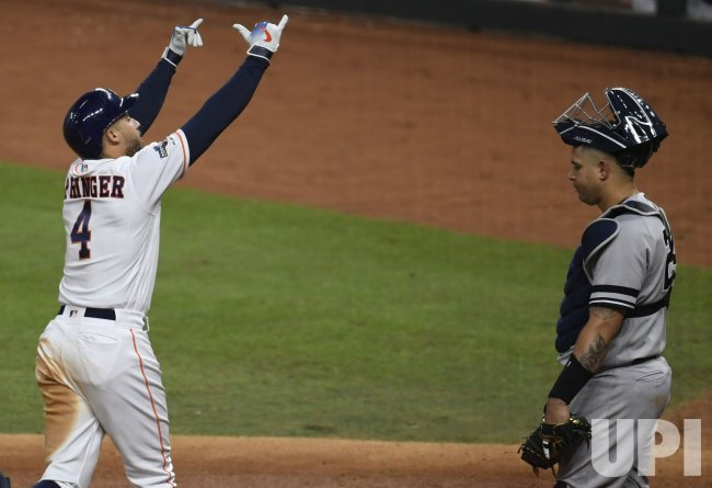 Astros Springer hits solo homer in ALCS in Houston