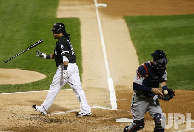 White Sox Ramirez strikes out against Twins in Chicago