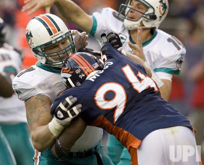 NFL Denver Broncos host Miami Dolphins