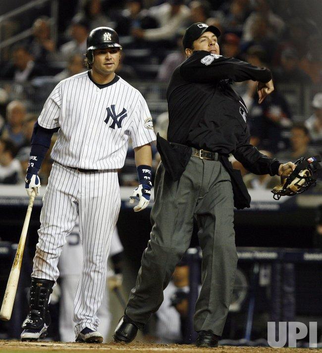 Tampa Bay Rays at New York Yankees at Yankee Stadium in New York