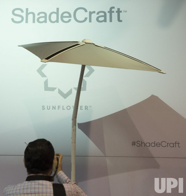 ShadeCraft smart shade is displayed at the 2017 International CES .
