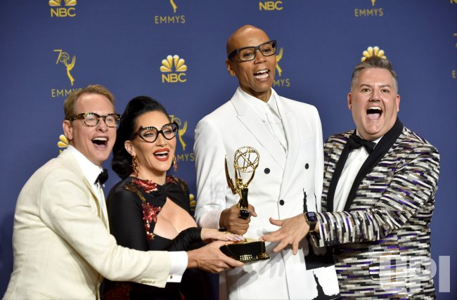RuPaul wins award at the 70th Primetime Emmy Awards in Los Angeles
