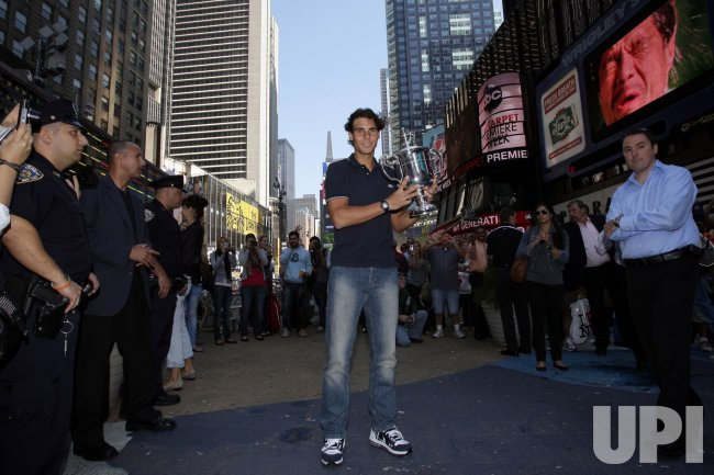 U.S. Open Champion Rafael Nadal in Times Square in New York