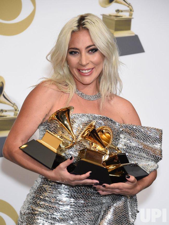 Lady Gaga wins awards at the 61st Grammy Awards in Los