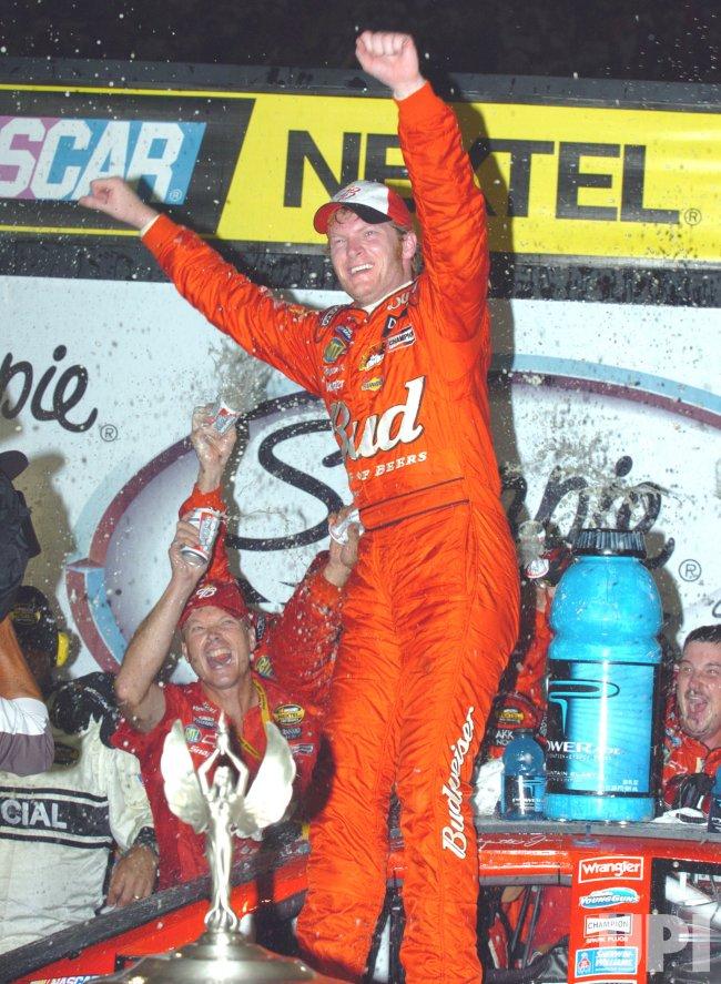 DALE EARNHARDT JR WINS SHARPIE 500