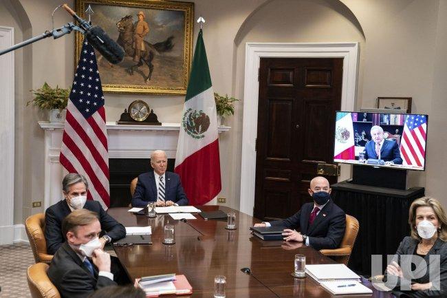 President Biden Has Virtual Meeting with Mexican President
