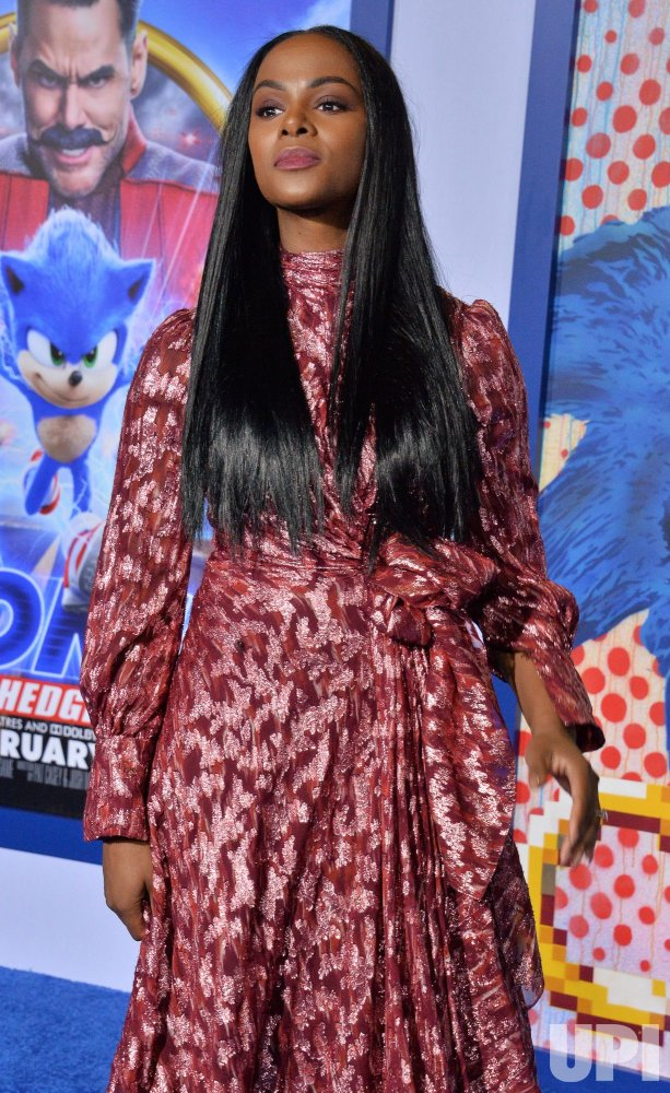 """Tika Sumpter attends a screening of """"Sonic the Hedgehog"""" in Los Angeles"""
