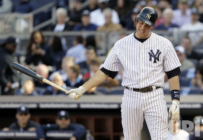 New York Yankees Mark Teixeira at Yankee Stadium in New York