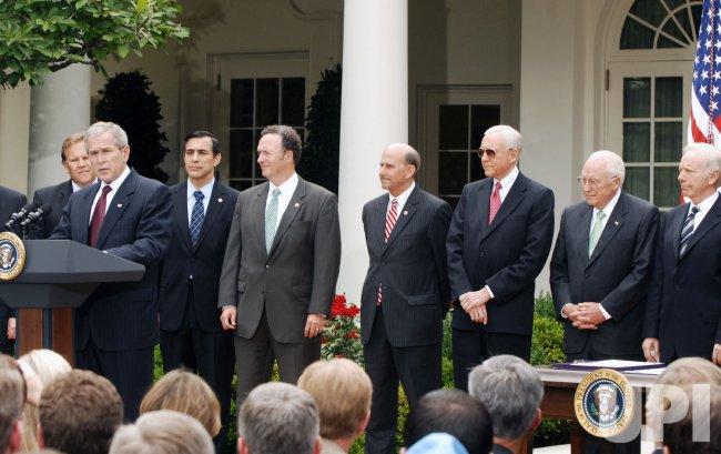 U.S. President Bush signs FISA Act in Washington