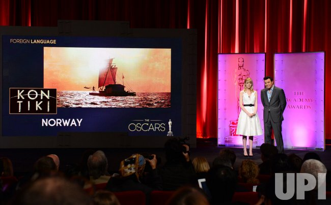 Seth MacFarlane and Emma Stone announce Oscar nominees in Beverly Hills, California