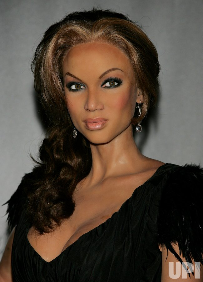 Tyra Banks wax figure at Madame Tussauds in New York