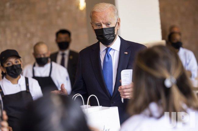 Biden Visits Restaurant in Washington, DC