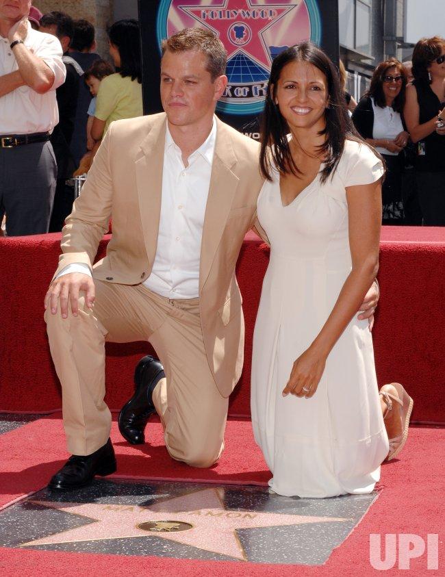 ACTOR MATT DAMON RECEIVES STAR ON HOLLYWOOD WALK OF FAME INLOS ANGELES