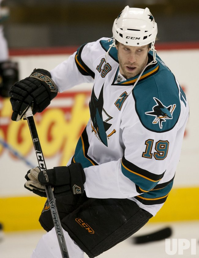 San Jose centerJoe Thornton Skates in Denver