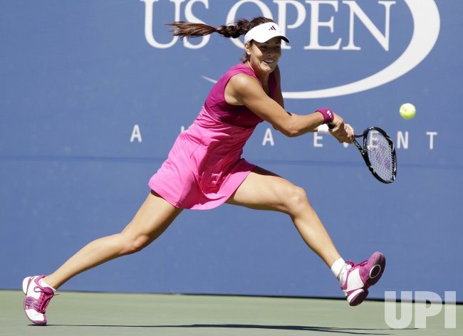 Ana Ivanovic of Belgium at the U.S. Open Tennis Championships in New York