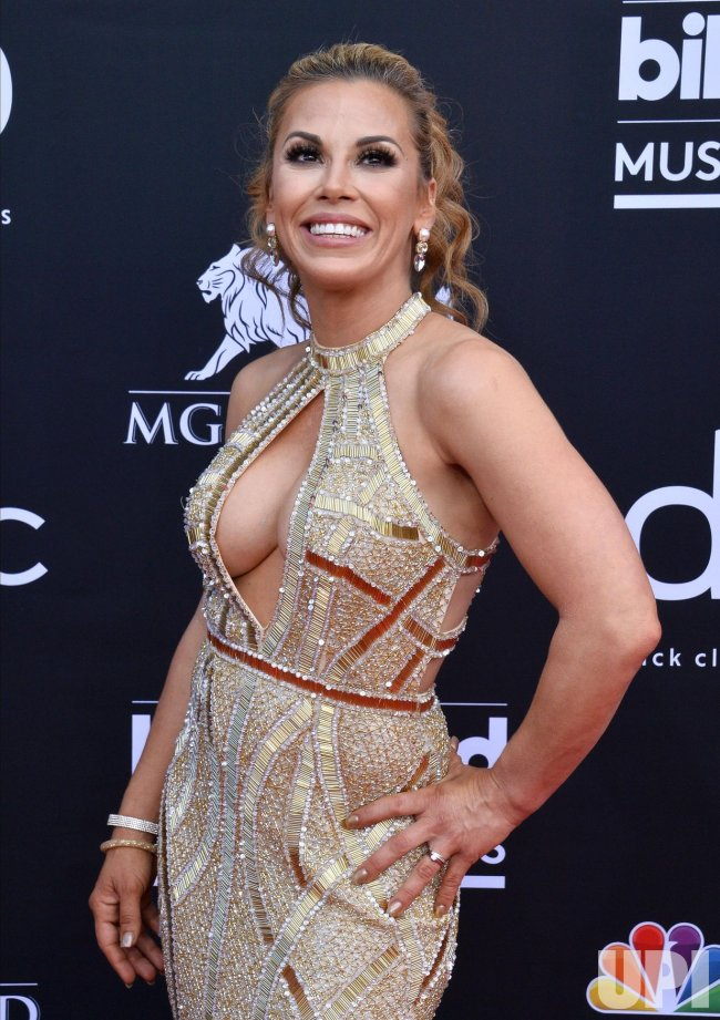 Mickie James attends the 2019 Billboard Music Awards in Las Vegas