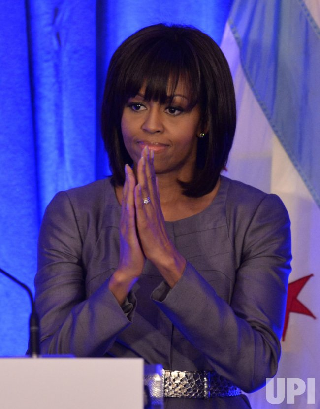Michelle Obama Speaks at Youth Violence Lunceon in Chicago