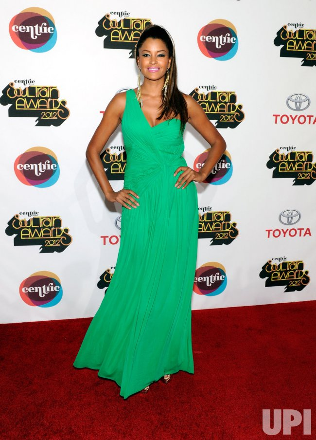 Claudia Jordan arrives at the Soul Train Awards 2012 in Las Vegas