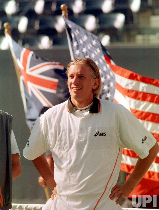 1999 U. S. Open - Jarkko Nieminen from Finland wins Juniors Singles championship